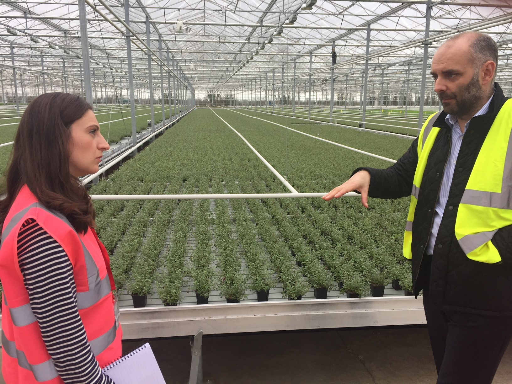 27th March 2018 – Hayley Campbell-Gibbons (Chief Horticultural Advisor at NFU)  visits the WSGA.